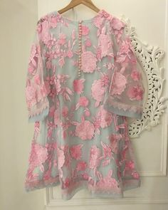 Dm for details n order Colour available on your demand   Stylish Dress Designs, Stylish Dresses For Girls, Designs For Dresses, Dress Neck Designs, Casual Dresses, Fashion Dresses, Fashionable Outfits, Pakistani Fashion Party Wear, Pakistani Outfits