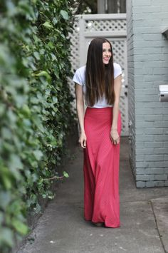 Quick knit a-line maxi skirt tutorial