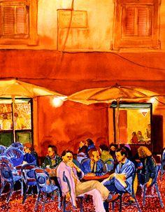 Evening Cafe- Jeanie Collin Keys