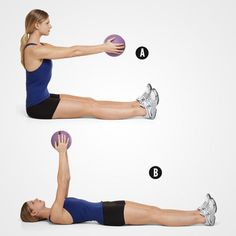 This weighted core workout will strengthen and tone your stomach in no time
