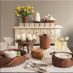 Set a beautiful table with Longaberger! @thelongabergerco #baskets #longaberger #springtime