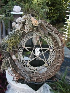 Natural pentacle wreath