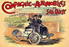 Art-Ad-Compagnie-des-Automobiles-du-Sud-Ouest-Auto-Car-3-wheel-Deco-Poster-Print