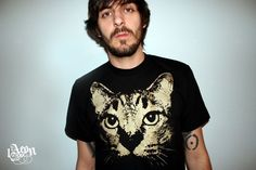 Hey, I found this really awesome Etsy listing at https://www.etsy.com/listing/66753925/gold-gold-cat-cat-etsy-black-mens-tee