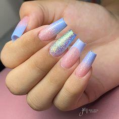 Nail Salon Design, Ombre Nail Designs, Gelish Nails, Natural Eye Makeup, Dream Nails, Mani Pedi, Manicure Pedicure, Nail Decorations, French Nails