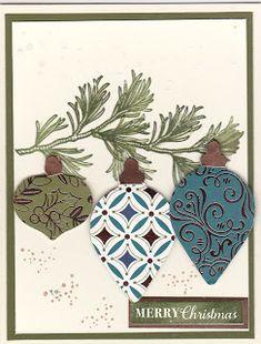 Magnolia's Place: Christmas Cards Magnolia's Place: Christmas Cards Homemade Christmas Cards, Stampin Up Christmas, Christmas Cards To Make, Noel Christmas, Homemade Cards, Handmade Christmas, Holiday Cards, Christmas Crafts, Christmas 2019