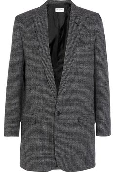 Gray and black wool-tweed Button fastening at front 100% wool; lining: 100% silk Dry clean