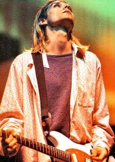 Kurt Cobain on stage #Nirvana - Paris, FR, 1994