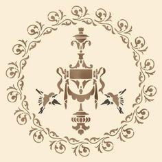 Трафарет Медальон-розетка 2