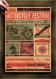 "The Flyer Poster Templates ""Vintage Motorcycle Vol. 8"" You'll find it on my website www.thecreativecat.it"