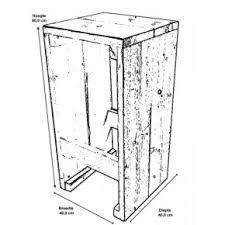 Afbeeldingsresultaat voor bouwtekening kledingkast steigerhout