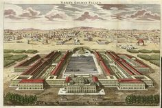 Nero's Golden Palace, large copper engraving, 1770.