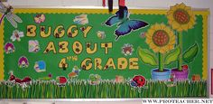 Back to School bulletin board.  Use insect cut outs. school bulletin boards, insect bulletin board, door, back to school