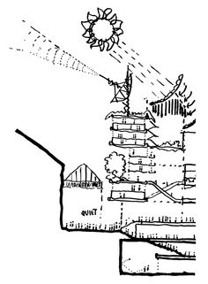Concept sketch section - Lloyd´s of London - Richard Rogers