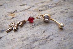 Gold Christmas Belly Button Jewelry Body Jewelry