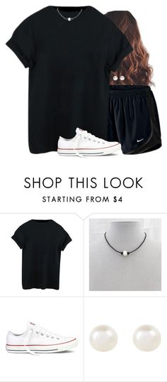 """Sometimes I just like to wear all black"" by aweaver-2 on Polyvore featuring NIKE, Converse and Accessorize"