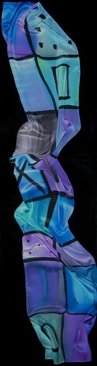 One of my handpainted silk scarves.