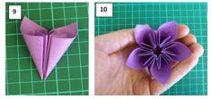 Origami flowers made from sticky notes, a pretty awesome skill