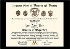Personalized Hogwarts Diploma Harry Potter By PixiePaperSTL | Harry Potter  Party | Pinterest | Hogwarts, Harry Potter And Gift