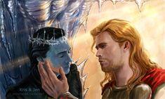 Melting ice. by ~jen-and-kris on deviantART (Thor Odinson / Loki Laufeyson, Thorki, Chris Hemsworth, Tom Hiddleston, Avengers Fanart, Thor Fanart)
