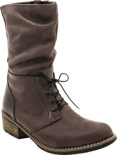 Wolky Claude women's boot (Dark Brown Vintage Leather)