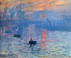 Claude Monet Impression Sunrise painting is shipped worldwide,including stretched canvas and framed art.This Claude Monet Impression Sunrise painting is available at custom size. Claude Monet, Monet Paintings, Impressionist Paintings, Famous Art Paintings, Famous Artwork, Inspiration Art, Art Moderne, Henri Matisse, Art Design
