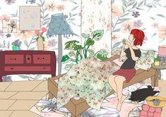 Illustration of myself/ Lisa-Marie Opitz Design