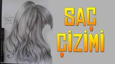 Karakalem Saç Çizimi - Black Pencil Hair Drawing