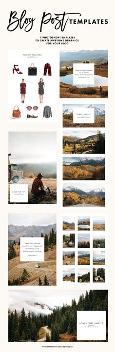 Americana inspired blog post templates for beautiful and modern blog graphics, how to start a blog, how to improve your blog design, blog posts