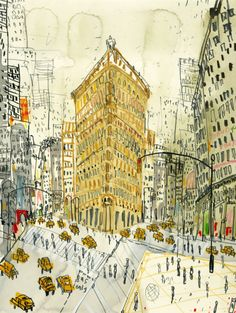 Flatiron Building, New York by Clare Caulfield
