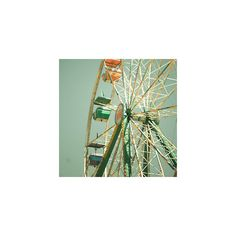 Ferris Wheel I Carnival Fair Art 8x8 ZNE Photgraph Photography ($10) ❤ liked on Polyvore featuring backgrounds, pictures, photos, icons and pics
