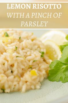 30 Minutes | Serves 4 | Vegetarian | This is a simple but classic recipe to serve a Lemon risotto. Using just the rich taste of lemon this recipe creates a savory and creamy risotto. Also perfect as a side dish. Lemon Rice, Lemon Yogurt, Parsley Recipes, Lemon Ice Cream, Arborio Rice, Dry White Wine, Lemon Cookies, Risotto, Side Dishes