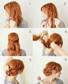 romantic braid strands updo #tutorial #ghdSecrets