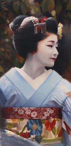 Maiko Satsuki ( Gion Kobu district of Tokyo, Japan) - portrait by Phil Couture
