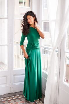 f8721abf7 New Frida Collection Convertible sleeves dress Green - Marsala - Navy Blue  - Red - Black
