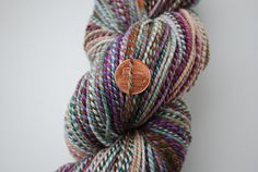 Ravelry:PA KnitWit spins FCK Ruby Truffle/Periwinkle Sky