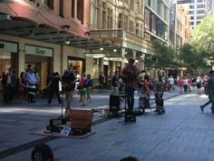 Talented young buckets that I stumbled upon in Pitt St Mall, , Rydges World Square, Sydney