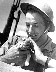 Cats often provided moral support to soldiers and seamen who needed a little taste of home.