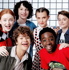 Sadie Sink, Finn Wolfhard, Millie Bobby Brown, Noah Schnapp, Gaten Matarazzo, and Caleb McLaughlin