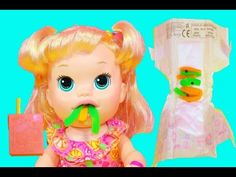 BABY ALIVE EATS PLAY DOH ❤ Super Snacks Snackin' Sara Doll Poops Playdou...