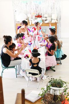 Swan Lake 2nd Birthday Party | 100 Layer Cakelet.  Could work for a baby's Korean Dohl!