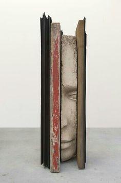 Mark Manders - Large Composition with Red Sculpture Metal, Mixed Media Sculpture, Plaster Art, Inspiration Art, Arte Popular, Land Art, Art Object, Art Design, Box Art