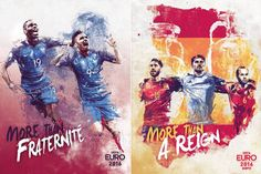 Illustrations of the Euro 2016 Teams  The French graphic designer and illustrator Florian Nicolle whose work was shared on Fubiz recently just published a series of illustrations in collaboration with the famous sports channel ESPN as part of their advertising campaign for the Euro 2016. This series aims to showcase the 24 teams that currently take part in the competition organized in France with a sentence that summarizes the overall spirit of each national selection. An impressive artistic…