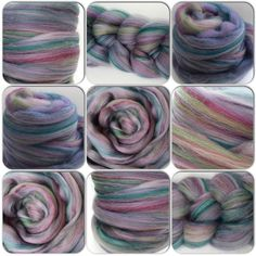 Merino wool tops/roving with mulberry silk   very by Pinkipunki