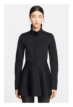 Donna Karan Collection Leather Trim Modal Peplum Jacket - was $2195.0, now $1316.98 (40% Off). Picked by olga @ Nordstrom