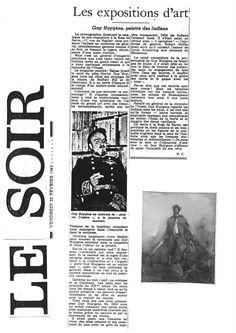 Le Soir : Guy Huygens, Peintre des Indiens par Paul Caso (22.02.1963)
