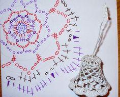 ....Szydełkowy świat....: schematy na gwiazki i dzwonki swiateczne