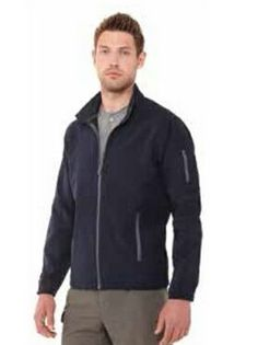 Stylish Men's Jacket - Omni Lightweight Soft Shell Jacket: Wind-resistant and water resistant and has stretch fabric for unrestricted movement, Highly breathable, Zippered pockets