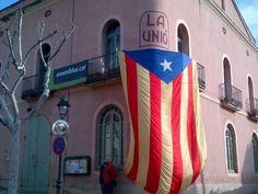 Estelada Assemblea Nacional Catalana a Teià (Maresme Sud)