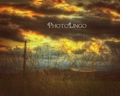 Fine Art Photography Virginia Landscape Sunset by PhotoLingo, $20.00 Landscapes, Nature, Sunset, Summer, Skies, Clouds, HDR, Print, Art, Photography, Country, Rural, Barbed Wire